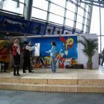 Showauftrit am Interkontinentalflueghafen Leipzig