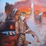 """""""Die Herrin der Vulkane"""", Öl auf Leinwand, 70 x 90 cm, Verkauft"""