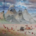 """""""Das gelöschte Feuer"""", Öl auf Leinwand, 200 x 180 cm, (verkauft)"""
