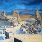 """Ruf des Sterns"", Öl auf Leinwand, 220 x 180 cm, 21.000,00 €"