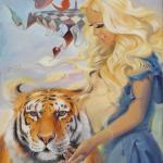 Daniela Katzenberger, 85 x 110 cm, verkauft