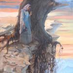"""Wasser des Lebens"", 50 x 70 cm, verkauft"