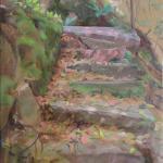 """""""Eine alte Treppe"""", Öl auf Leinwand, 40 x 60 cm, Verkauft"""