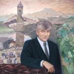 """""""Adam Albakov"""", Öl auf Leinwand, 100 x 100 cm, Verkauft"""
