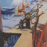 """""""Die Macht der Zeit"""", Öl auf Leinwand, 120 x 100 cm, Verkauft"""
