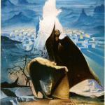 """""""Zelimhans letztes Gebet"""", Öl auf Leinwand, 60 x 80 cm, Verkauft"""