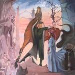"""""""Frühling in Tschetschenien"""", Öl auf Leinwand, 120 x 100 cm, 9.000,00 €"""