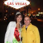 Beim Spaziergang mit Miss Las Vegas 2010