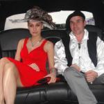Spazierfahrt mit Schauspielerin Lo in einer Stretchlimousine in Hollywood