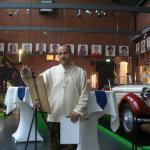 Bei einer Ausstellung im Industriemuseum