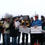 Preisverleihung beim Schneeskulpturenwettbewerb