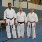 Beim Treff mit berühmtem Kmapfsportler Jamal Measara, (8. Dan in Karate, 7. Dan in Aikido und 7. Dan in Kobudo)